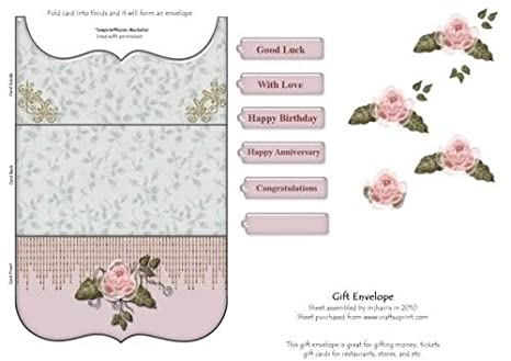 Tarjeta de regalo sobre - Col de rosas por Mary Jane Harris ...