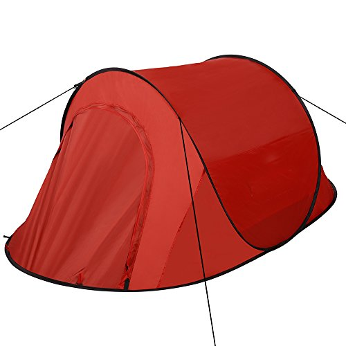 Pop Up Tent Automatic Instant Setup Easy Fold Back Waterproof Shelter with Potable Pack for Camping Hiking (red)