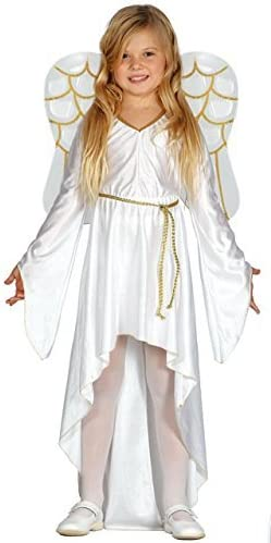 Girls Guardian Angel Costume Child Christmas Nativity Play Fancy Dress Outfit