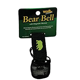 Bear Bell with Magnetic Silencer 1 Alerts bears and other animals of your presence Velcro strap for attaching to cloths, packs and walking sticks Silence when not needed by placing bell in bag with magnet