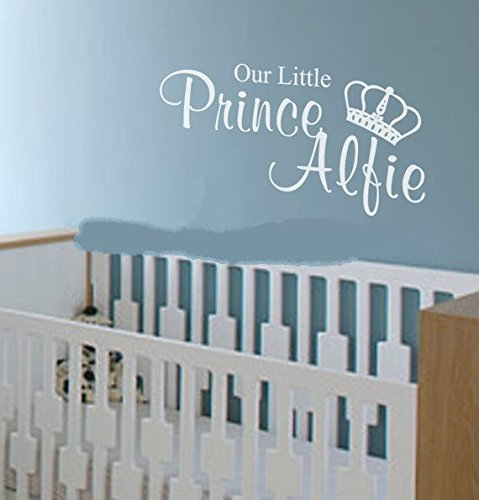 Custom-made Personalized Our Little Prince Wall Sticker Kids Bedroom Decor Vinyl Decal Wall Decor Decoration-you give name