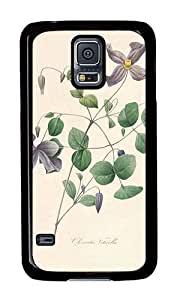 Samsung S5 Case,VUTTOO Samsung S5 Cover With Photo: Nature Flower Colorful For Samsung Galaxy S5 / Galaxy SV / Galaxy S V - PC Black Hard Case