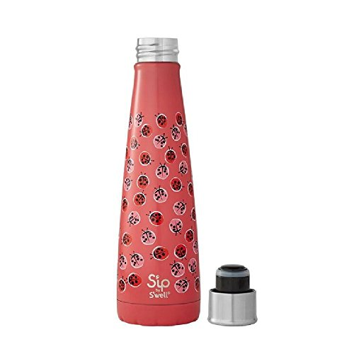 S'ip by S'well 20015-B18-05965 Lucky Ladybug 15oz Water Bottle