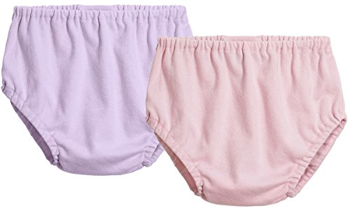 City Threads 2-Pack Baby Girls' and Baby Boys' Unisex Diaper Covers Bloomers Soft Cotton, Lavender/Pink, 18/24 m by City Threads