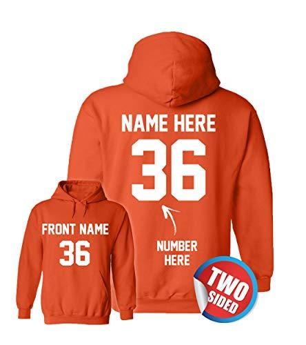 (Customized Ville Orange Hoodies - Design Your Own Sweatshirts - Personalized Hoodys Basketball)