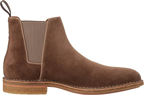 Aquatalia Mens Oscar Chelsea Boot Taupe Dress Suede
