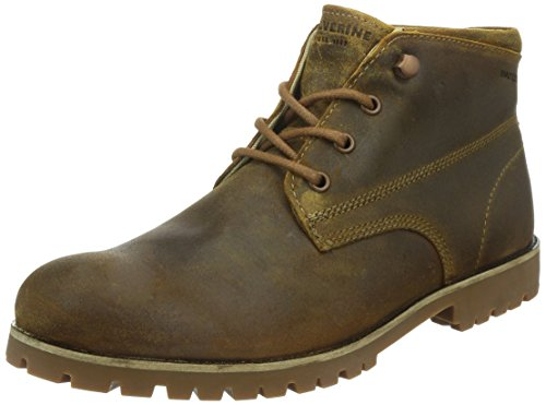 Wolverine Cort Waterproof Leather Chukka Brown Leather Men's Work Boots