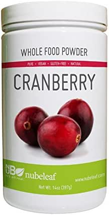 Nubeleaf Cranberry Powder - Non-GMO, Gluten-Free, Vegan Source of Antioxidants & Phytonutrients, Fiber, Vitamin C - Single-Ingredient Nutrient Rich Superfood for Cooking, Baking, Smoothies (14oz)