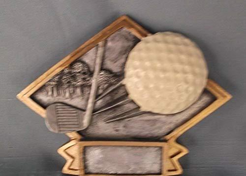 Small Diamond Resin Plaque Golf Award Trophy Ball ()