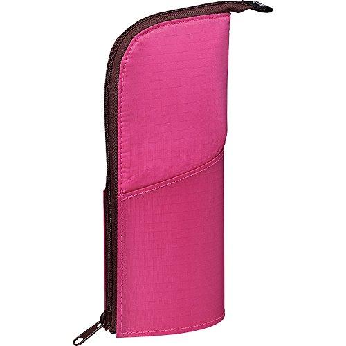 Kokuyo NeoCritz Transformer Pencil Case - Pink / Brown Dot