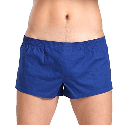 Dou7ble Li Men's Sexy Underwear Cotton Boxer Shorts Undergarments (XL, Dark blue)