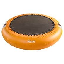 The Shrunks Inflatable 2-in-1 Safety Trampoline Pool Portable Indoor or Outdoor Use, Orange, 72 X 72-Inch