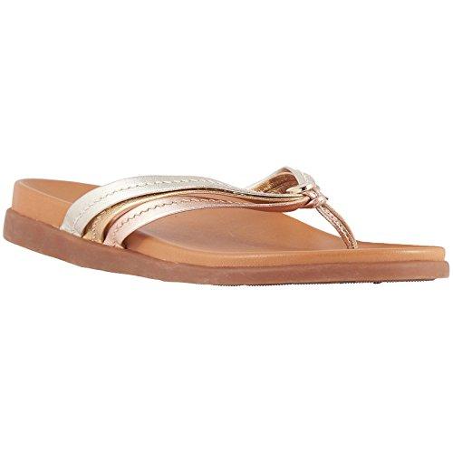 Palm Sandals Vionic Mixed Womens Catalina Leather Metallic 5wnBIq