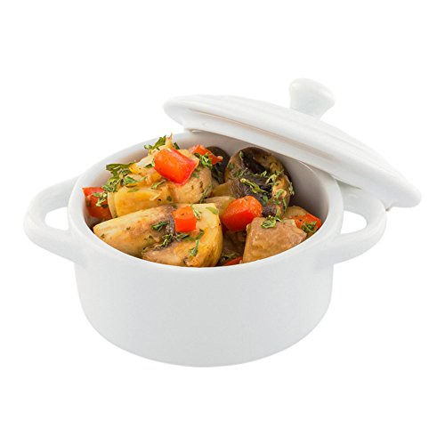 (Porcelain Cocotte - Mini Round Cocotte 4.33 Inches - 10ct Box - Restaurantware)