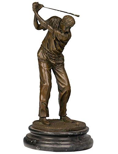 Toperkin Golfer Male Bronze Statues Sport Metal Sculpture Home Decor TPY-394