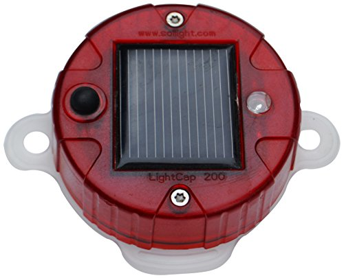 Davis Instruments LightCap 200 Red Bottle - Solar Water Powered Bottle