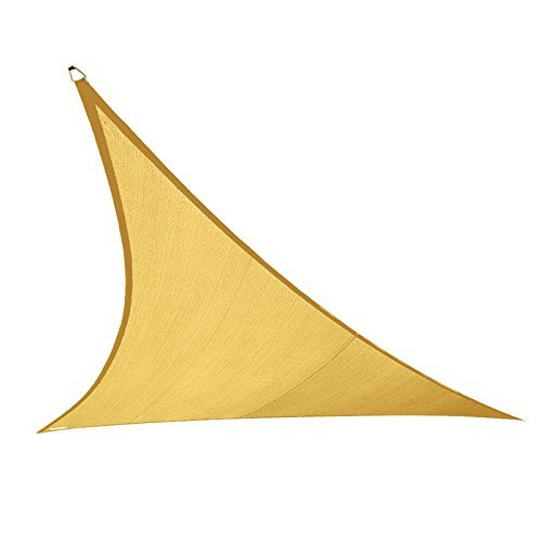 Coolaroo 474003 Coolhaven Triangle Shade sail Sahara with Hardware, 18'