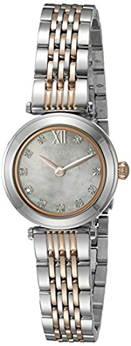 Bulova Women's Quartz Stainless Steel Dress Watch (Model: 98P156)