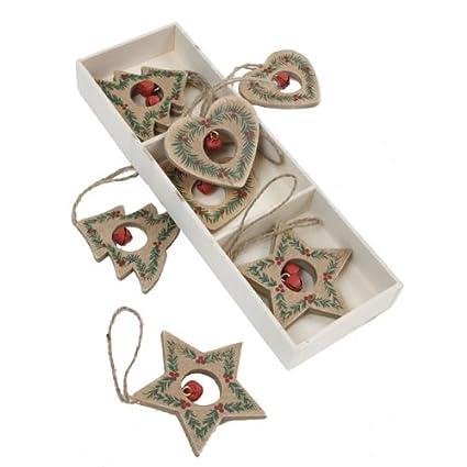Wooden Heart Nordic Design Christmas Ornaments d56fa4972