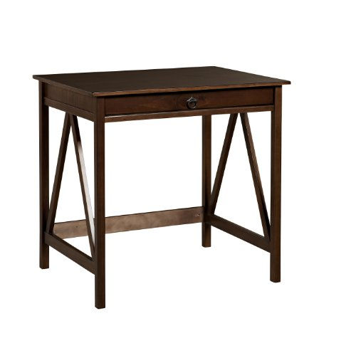 Linon Home Decor Titian Laptop Desk (Desk Antique Brown)