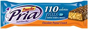 PowerBar Pria Nutritional Bar, 110 Calories, Chocolate Peanut Crunch, .98-Ounce Bars (Pack of 30)