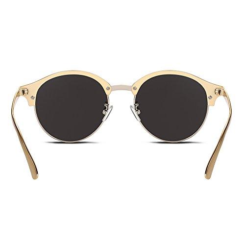 Nykkola Lunettes de soleil demi-cerclées, gold frame and gold lens