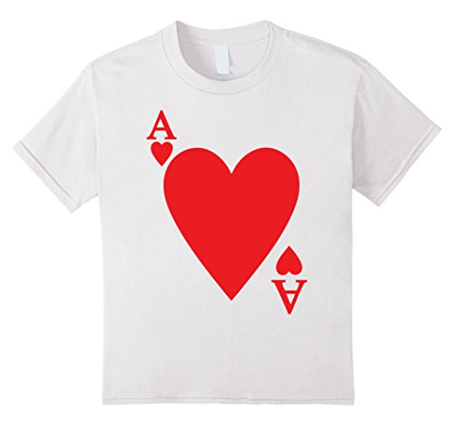 A Deck Of Cards Costume - Kids Deck Of Cards Halloween Costume Ace Of HEART Matching Friend 12 White