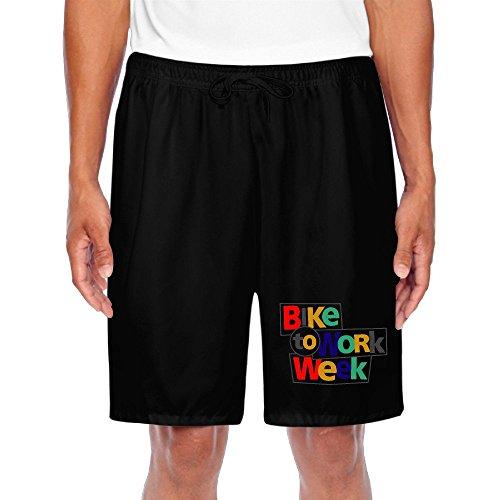 BENZIMM Men's BIKE TO WORK WEEK Shorts Sweatpants (Front Pants Plain Week)