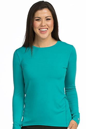 (Med Couture Performance Longsleeve Knit Tee for Women, Real Teal, X-Large)