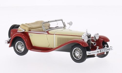 Mercedes Mannheim 370S , beige/red, 1932, Model Car, Ready-made, Neo 1:43
