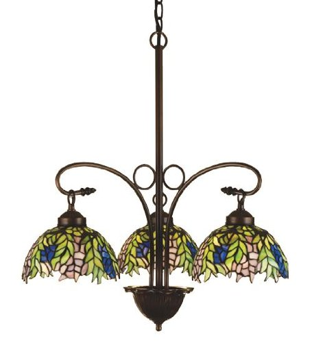- Meyda Tiffany 27415 Three Light Chandelier, 30