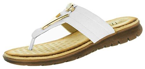 BEPPI Sandalias de Material Sintético Para Mujer Blanco Weiß Weiß