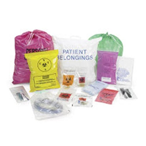 WP000-58-97 58-97 58-97 Bag Biohazard 9x6'' Specimen Polyethylene Red LF 1000/Ca Medical Action Industries