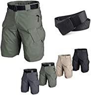 2021 Upgraded Waterproof Tactical Shorts for Men Quick Dry Breathable Cargo Shorts for Outdoor