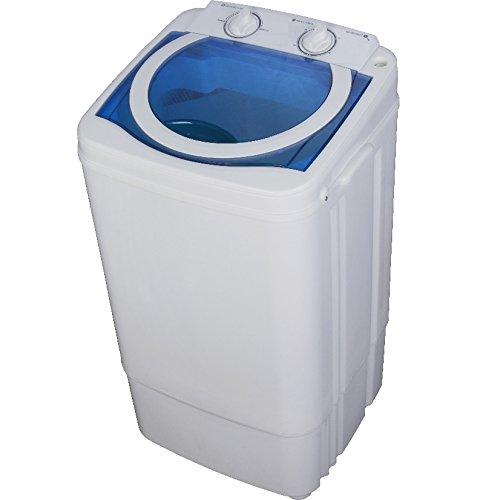 Syntrox Germany A 7 Kg Waschmaschine mit Schleuder Weiß/Blau Campingwaschmaschine Mini Waschmaschine [Energieklasse A]
