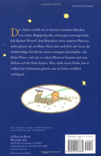 Der Kleine Prinz (German) by Mariner Books