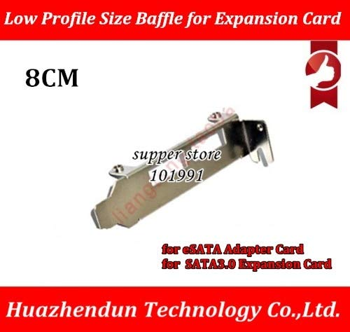 Computer Cables Yoton 2-Port USB 3.0 Low Profile Size Baffle for eSATA Adapter Card SATA 3.0 Expansion Card Rear Bracket 8CM - (Cable Length: 100PCS)