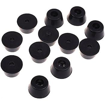 BCP 12pcs Black Color Bumpers Pads Rubber Feet, 21x12mm