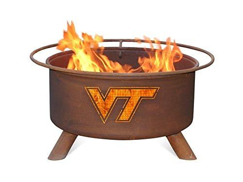 Virginia Tech VT Hokies Portable Steel Fire Pit Grill