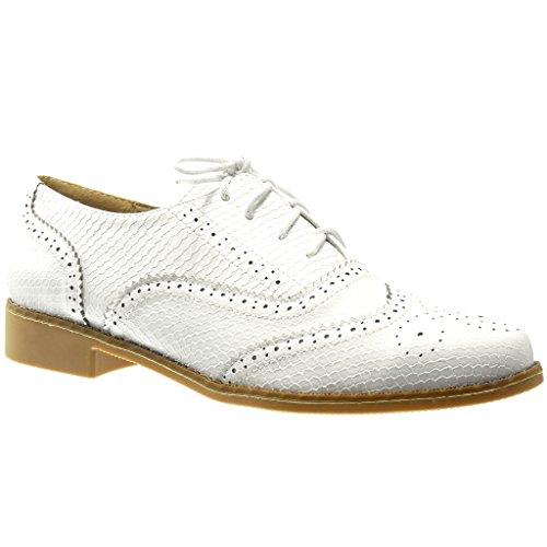 Zapatos blancos Angkorly para mujer YdbPkrGaS