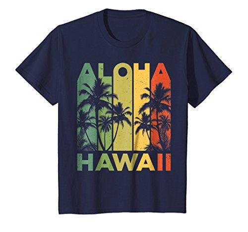 Kids Aloha Hawaii Hawaiian Island T shirt Vintage 1980s Throwback 8 Navy