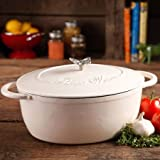 Pioneer Woman Timeless Beauty 7-quart Dutch Oven with Bakelite Knob and Stainless Steel Butterfly Knob (Linen)