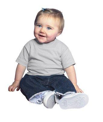 Rabbit Skins Infant 5.5 oz Short-Sleeve T-Shirt 3401 Silver ()