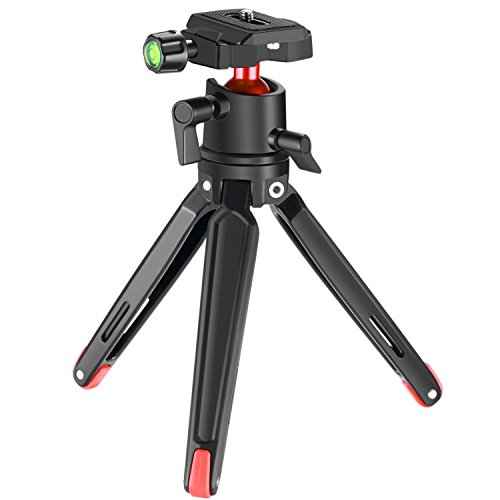 Neewer Aluminum Alloy Desktop Tripod Stand, 14.2 inch/36 centimeters Table Tripod with 1/4-inch Thread 6 pounds/2.7 kilograms Load Capacity for Gopro 5 4 3+ Smartphones Canon Nikon Sony DSLR Cameras by Neewer