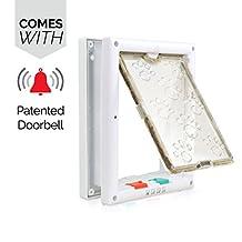 PetsN'all Smart Four-Way Locking Pet Door with Door Bell