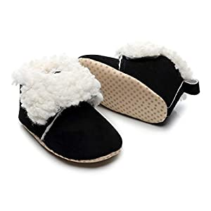 Cegduyi Newborn Baby Boots Toddler Boy Girl Winter Warm Leopard Print Fleece Soft Sole Anti-Slip Snow Crib Booties