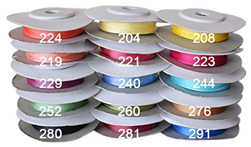 BeesClover Warm Colors. 10 mm 3/8 inch Wide 100% Pure Mulberry Silk Ribbon for Embroidery Handcraft Double Faced Thin Taffeta Silk Trim 5 Rolls Mixed Colors 100 Meter