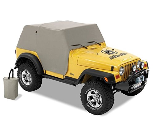 Bestop 81037-09 Charcoal All Weather Trail Cover for 1997-2006 Wrangler TJ (except Unlimited) 65th Anniversary Jeep Wrangler