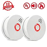 Best Smoke Detectors - Smoke Alarm Fire Alarm,2 Pack Smoke Detector Review