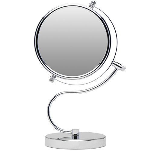 Mirrorvana Cute & Curvy Double-Sided Magnifying Makeup Mirror w/1 x 10x Magnification for Vanity Countertop, 6-Inch by Mirrorvana